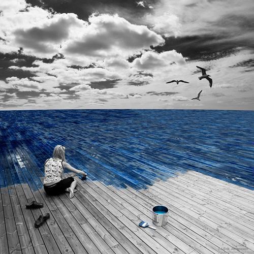 pintando de mar